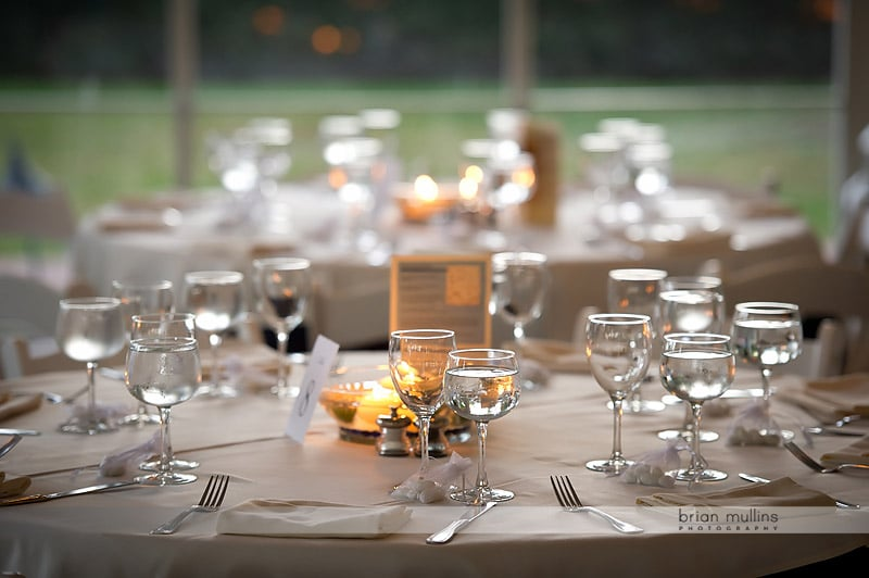 fearrington village wedding reception table