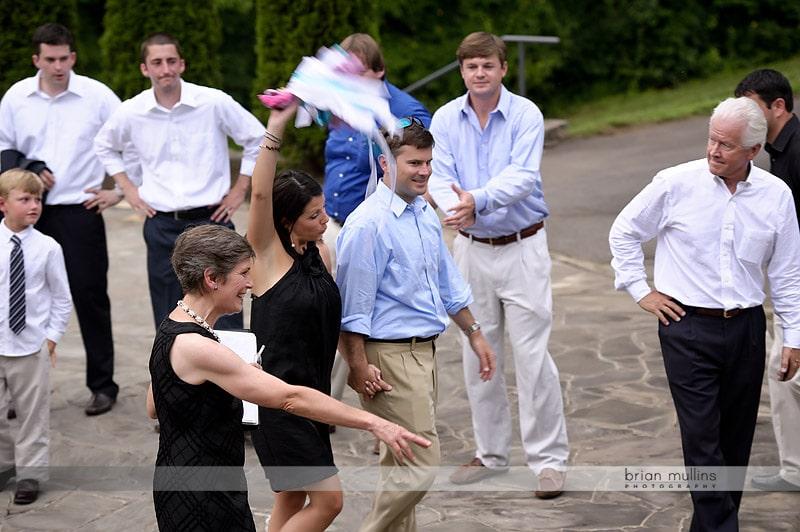 wedding rehearsal at NC Arboretum