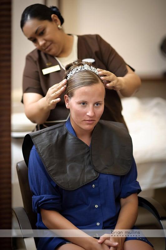 hair and makeup at secrets capri resort