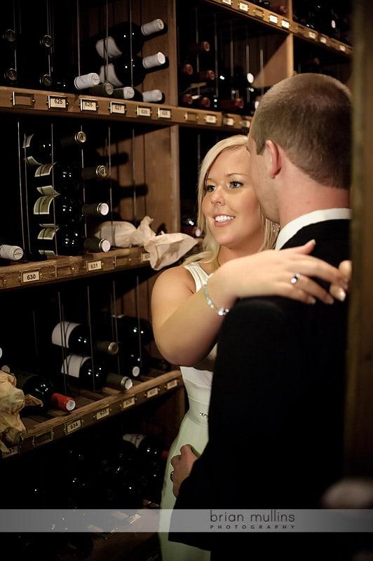 angus barn wine cellar wedding