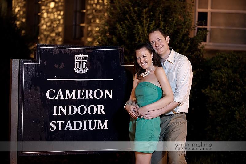 duke campus engagement photography