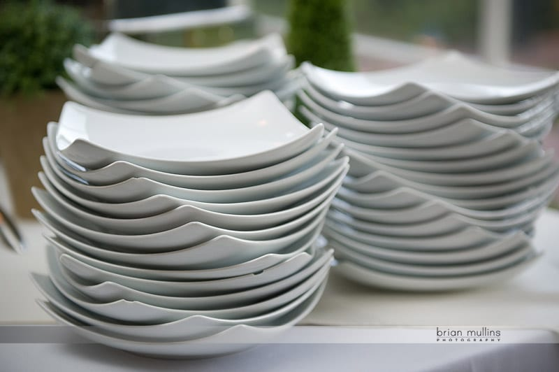 fearrington village wedding reception plates