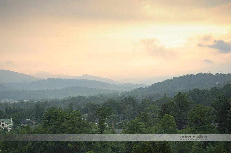 View from grove park inn