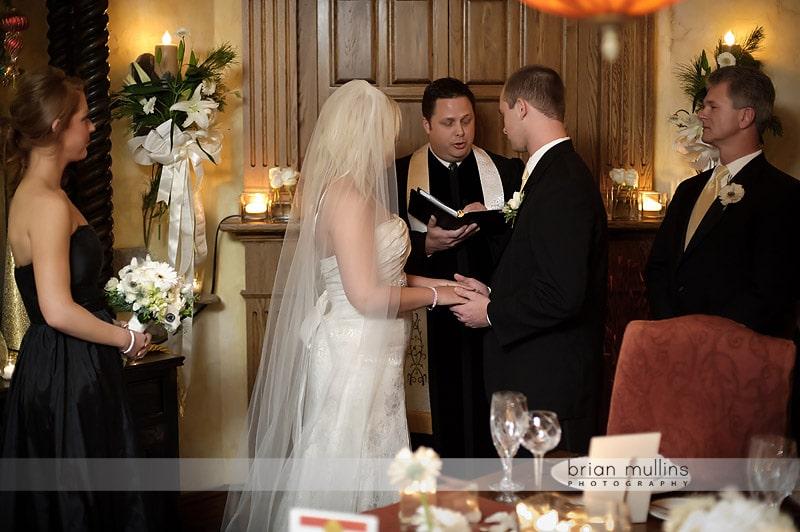 angus barn wine cellar wedding ceremony