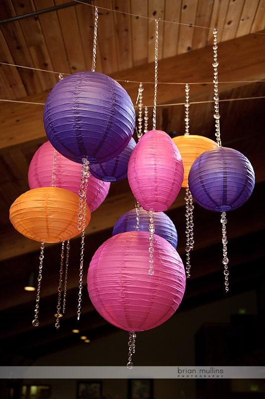 colorful japanese wedding lanterns