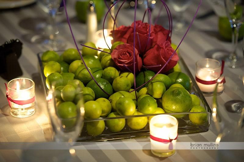 green apple table centerpiece