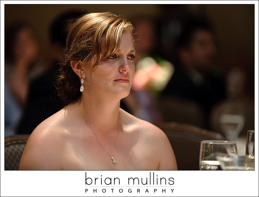 bride crying from her fathers toast
