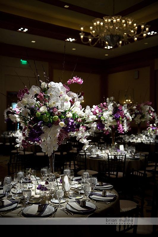 watered garden wedding flowers