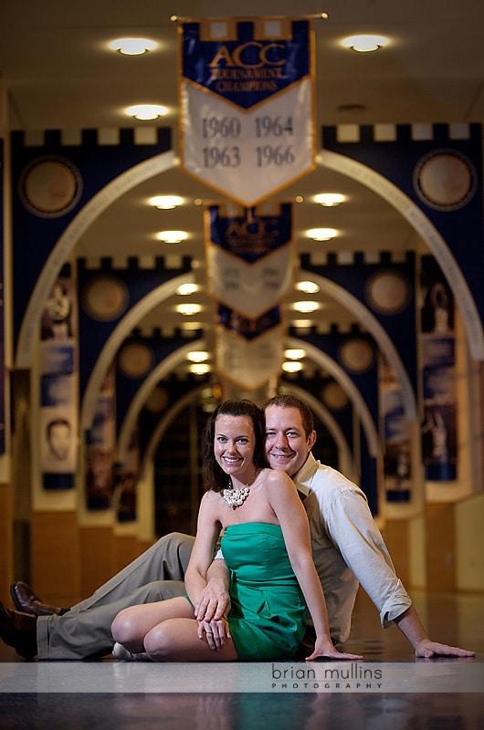 cameron stadium engagement photography