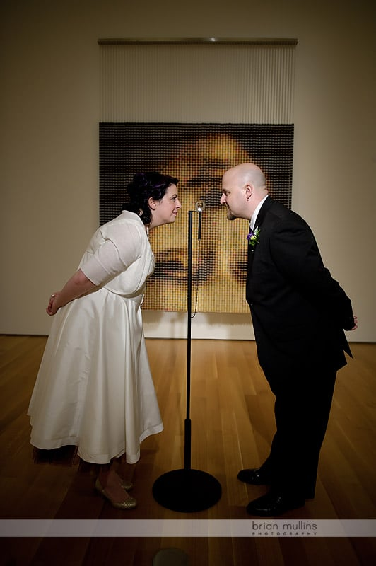 wedding at nc museum of art