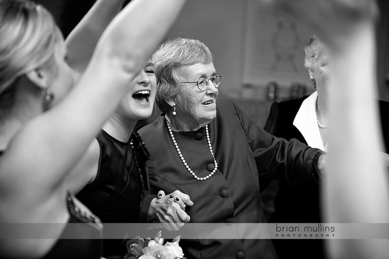 grandma dancing at wedding reception