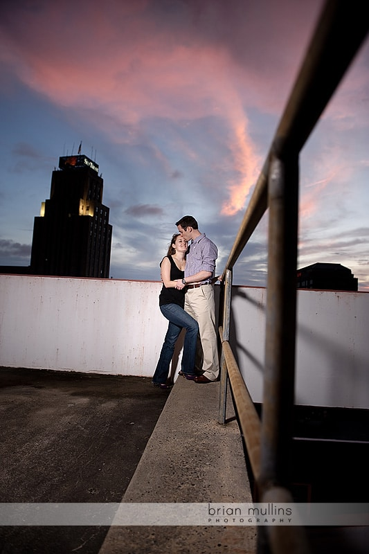 engagment session at sunset