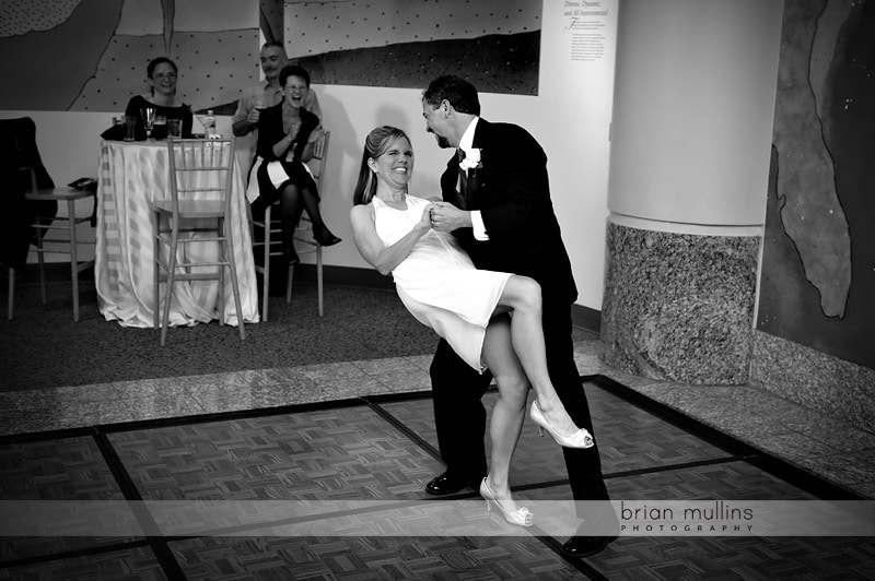 first dance at museum of natural sciences wedding