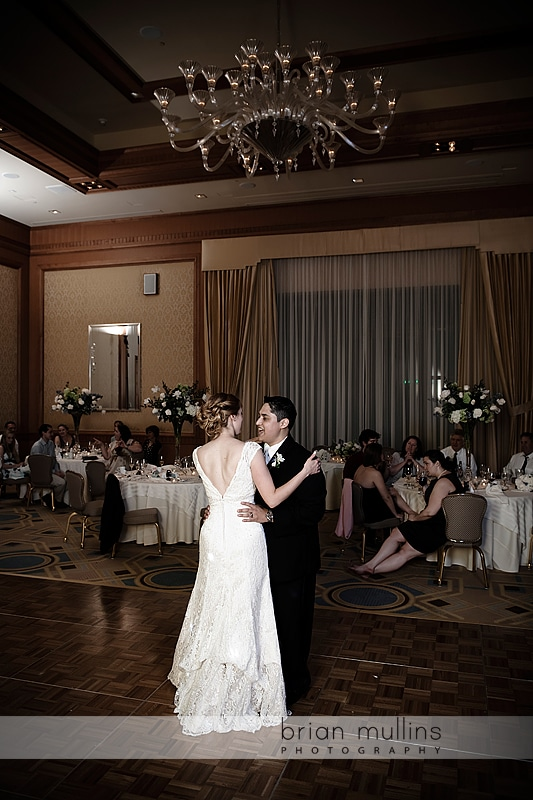 Dancing at Wedding reception in the Umstead Hotel