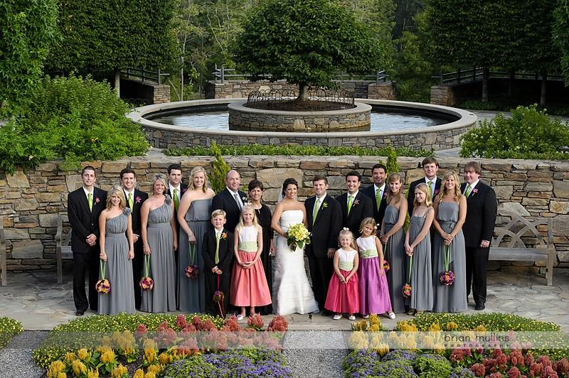 wedding portrait at NC Arboretum