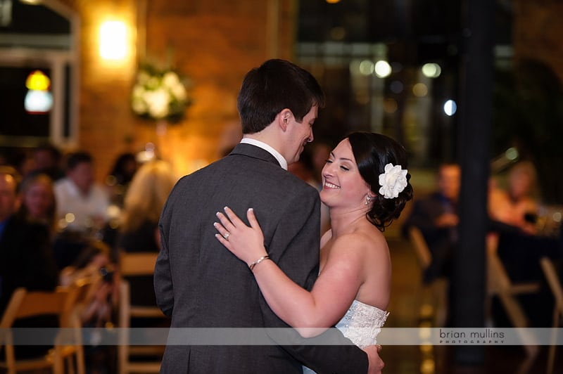 first dance at bay 7 wedding reception