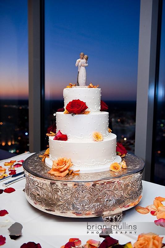 Wedding cake at Cardinal club