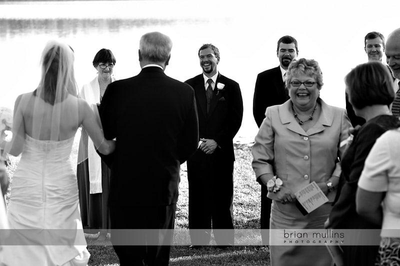 lake crabtree wedding ceremony
