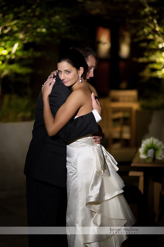 wedding pictures taken at night
