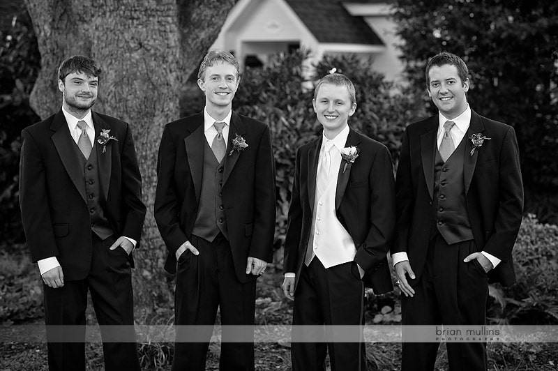 groom with groomsmen photos