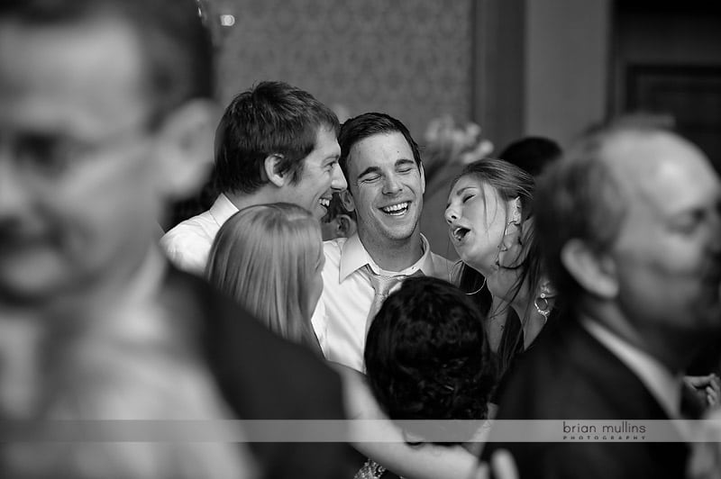 guests singing at wedding