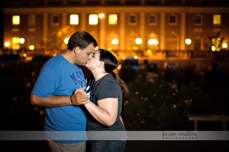 engagement session at night