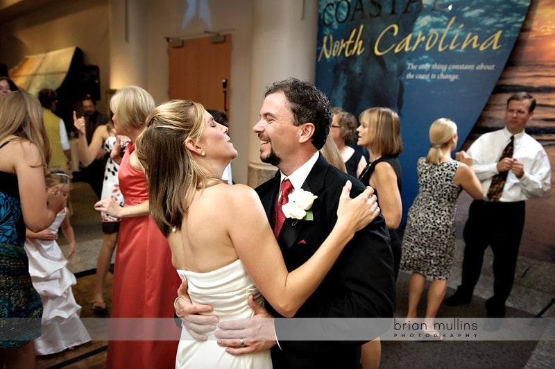 wedding couple dancing museum of natural sciences