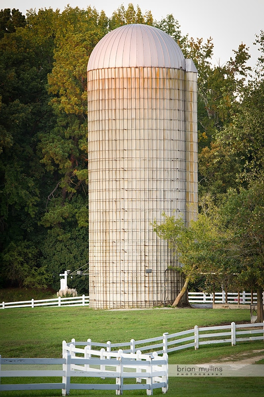 grain silo at fearrington village