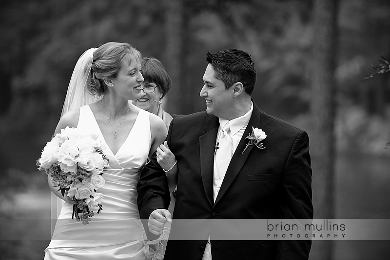 Outdoor wedding at Umstead Hotel