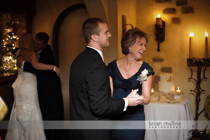 angus barn wedding mother and son dance