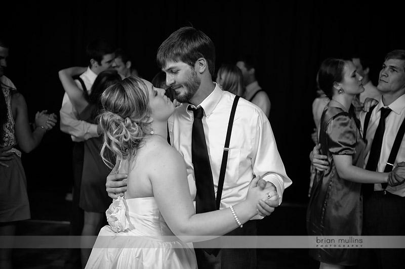 bride and groom dancing at ncsu