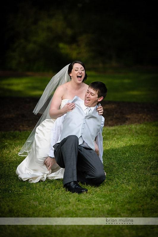 outdoor wedding at coker arboretum