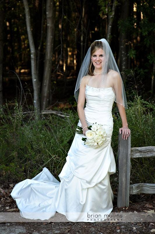 bride at lake crabtree