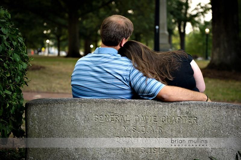 UNC kissing bench