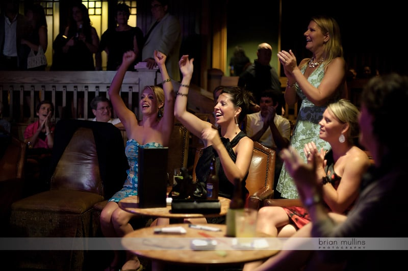 wedding after party in dueling piano bar
