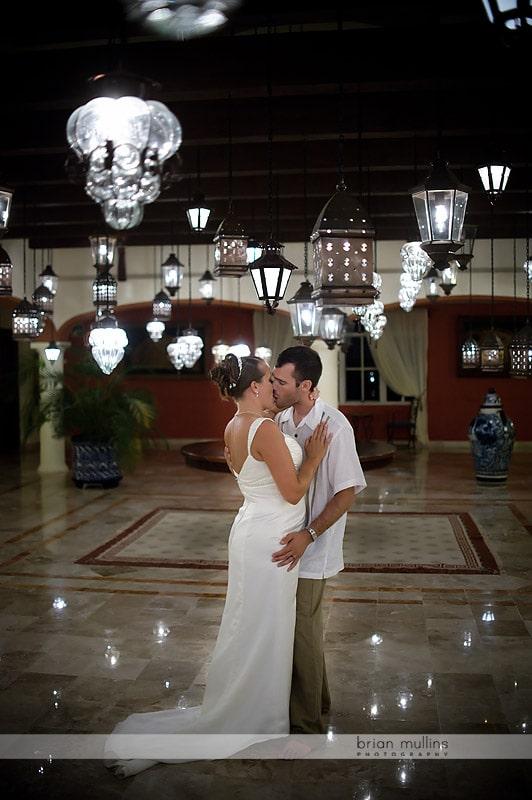 cancun mexico wedding portrait