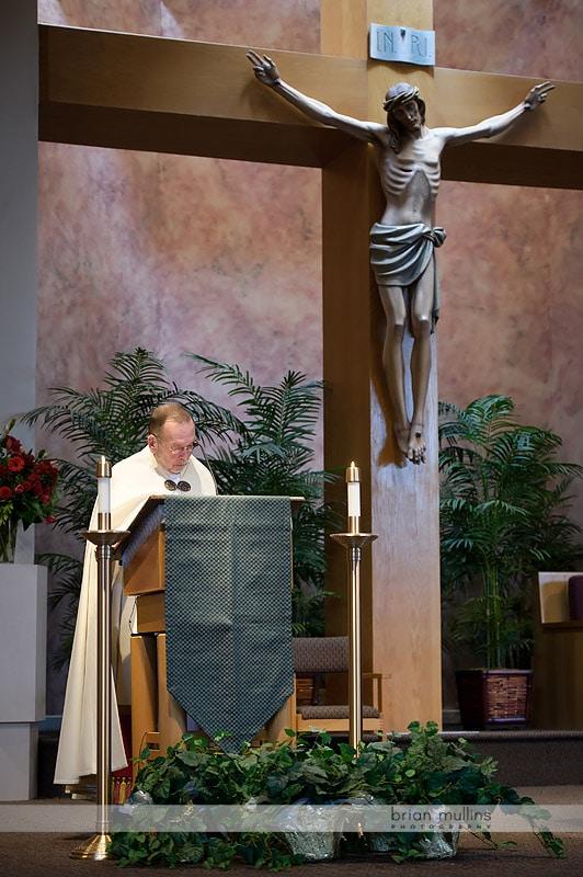 wedding at St Andrews Catholic Church