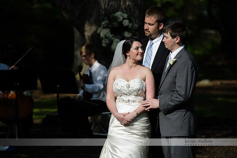 coker arboretum wedding ceremony