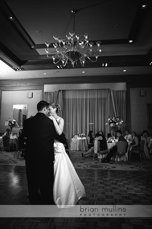 bride & groom dancing at Umstead Hotel