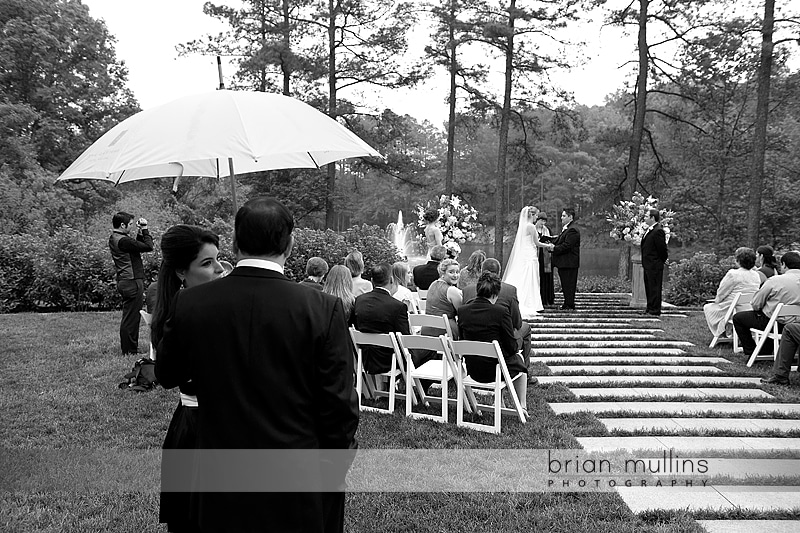 Wedding rain at the Umstead Hotel