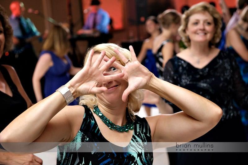dancing at washington duke wedding reception