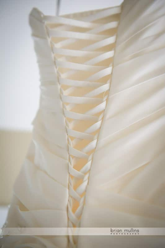 laced wedding dress back