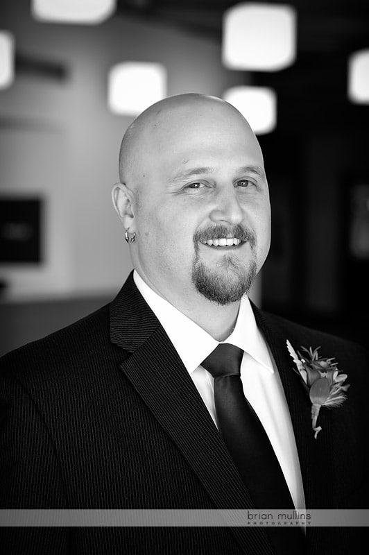 grooms wedding portrait