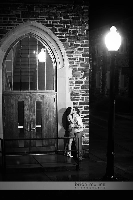 duke campus engagement photos