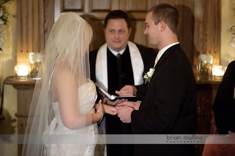 wedding ceremony at angus barn