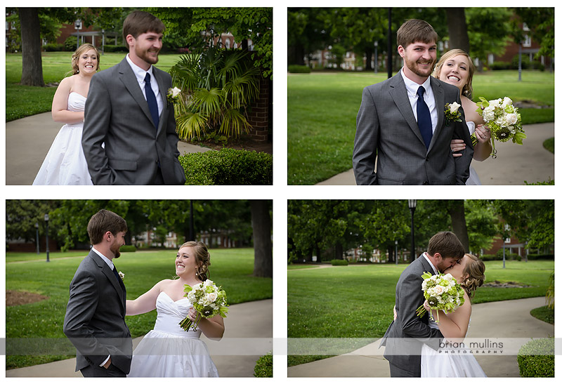 raleigh wedding couple first look