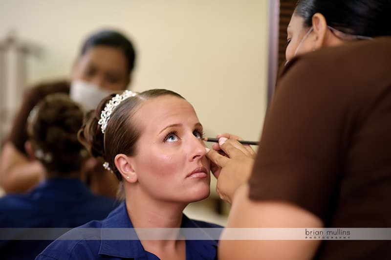 day spa treatment for bride