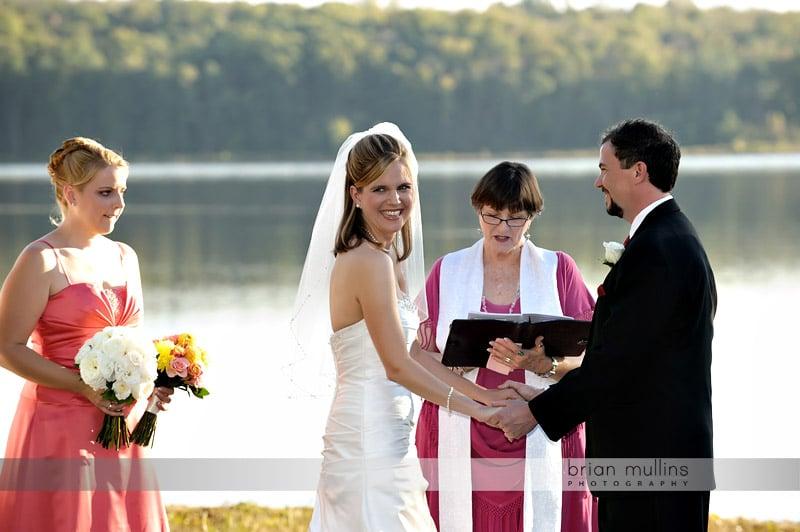 wedding at lake crabtree