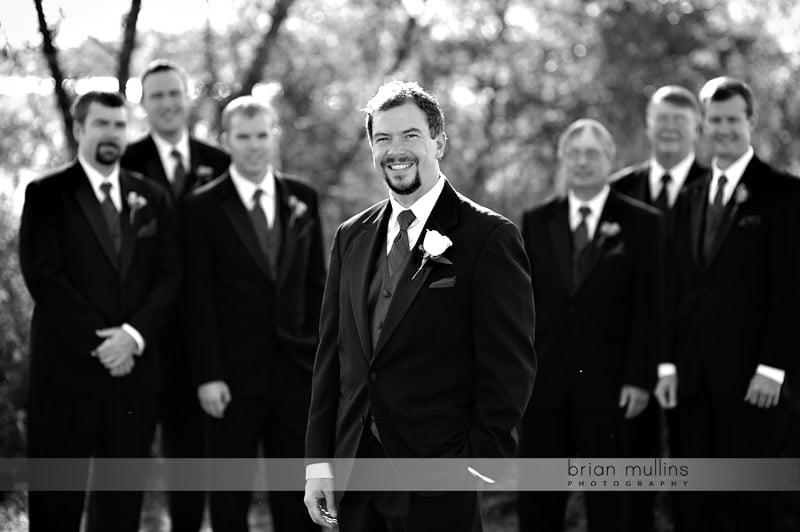 groomsmen at lake crabtree