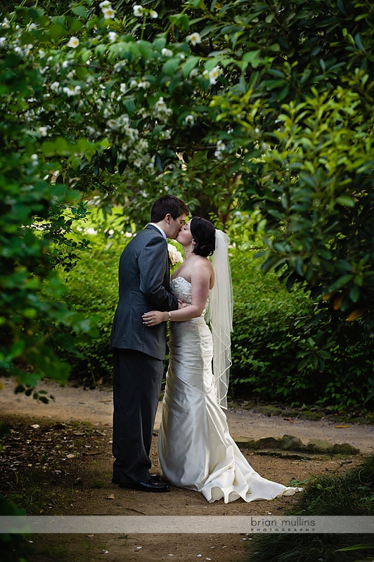 wedding ceremony at coker arboretum
